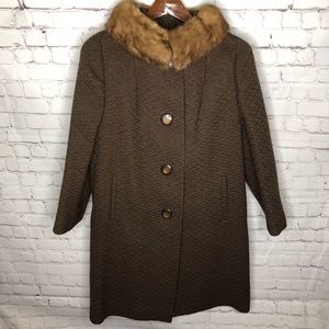 Vintage 1960s Fur Trim Hockanum Montera Jacket